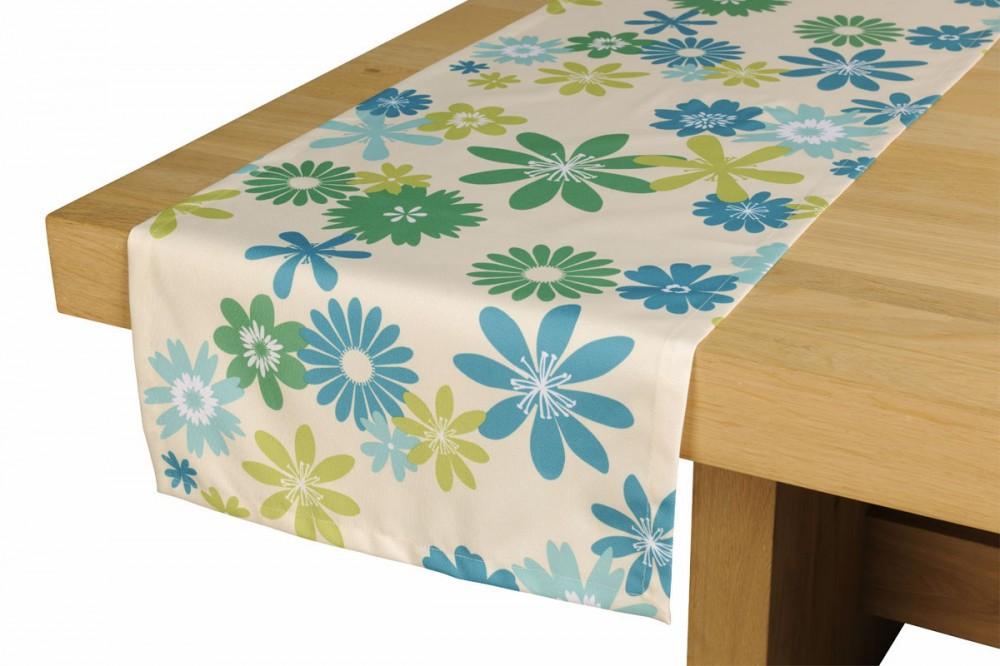 outdoor garten tischl ufer capri gr n blau 42x145cm. Black Bedroom Furniture Sets. Home Design Ideas