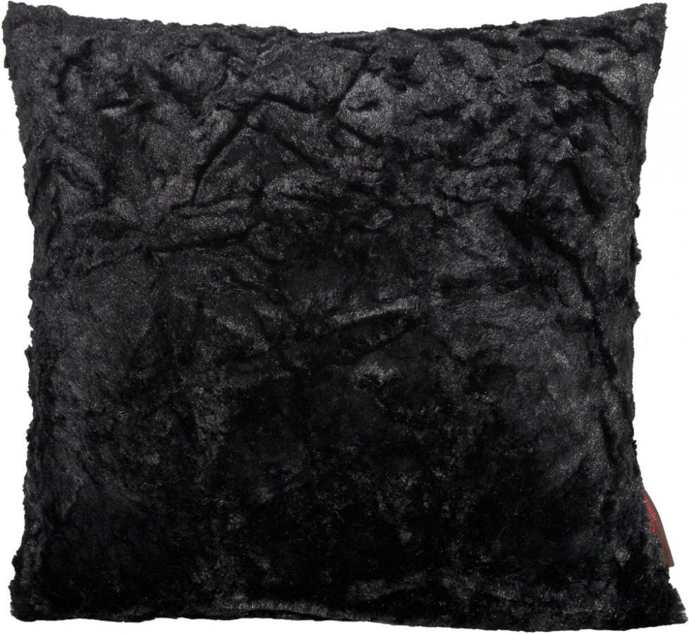 kissenh lle fluffy schwarz 50x50cm ebay. Black Bedroom Furniture Sets. Home Design Ideas