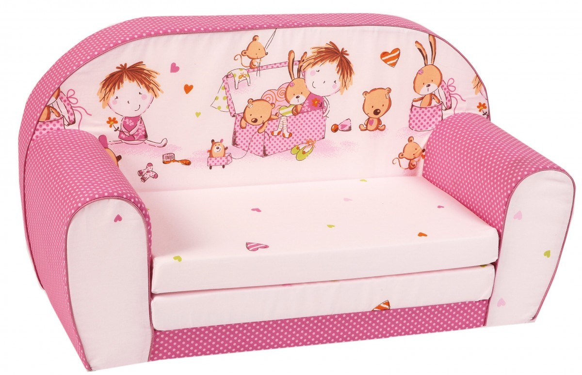 Knorr kinder sofa liege schlafsofa m bel spielzimmer pink for Schlafsofa pink