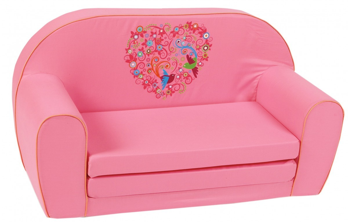 knorr kinder sofa liege schlafsofa m bel bird flowers rosa geschenkideen geschenke f r baby kids. Black Bedroom Furniture Sets. Home Design Ideas