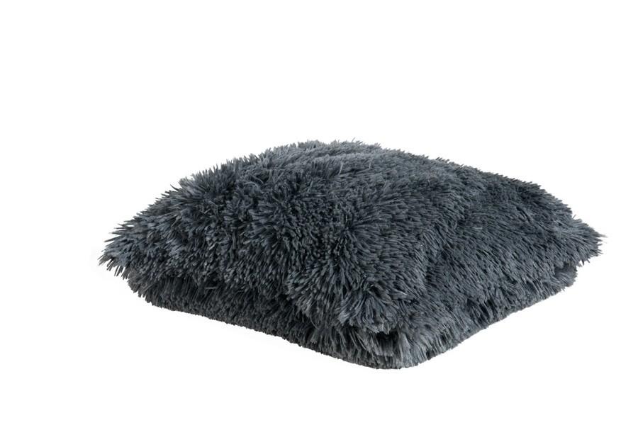 zottel kissen dekokissen flausch bodrum grau 45x45cm. Black Bedroom Furniture Sets. Home Design Ideas
