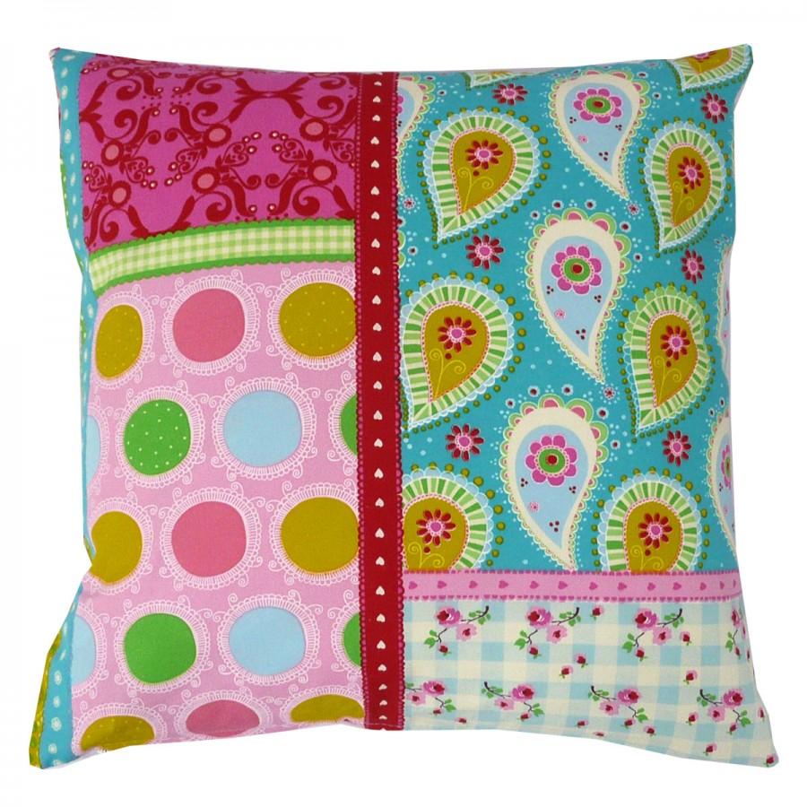 kissen kissenh lle 50x50cm patchwork paisley farbflash. Black Bedroom Furniture Sets. Home Design Ideas