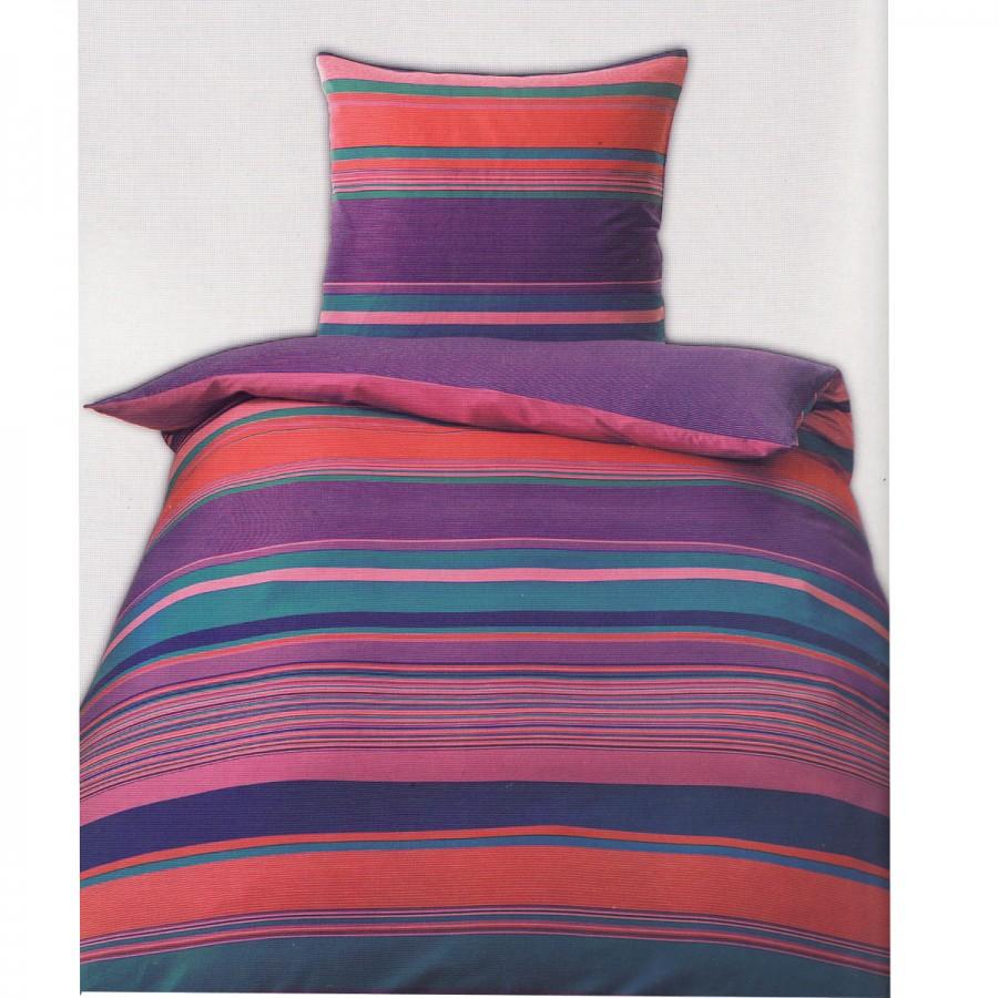 satin bettw sche streifen 135x200 lila beere gardinen. Black Bedroom Furniture Sets. Home Design Ideas