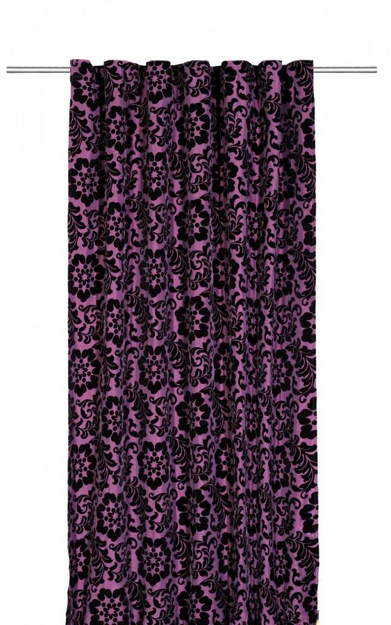 dekoschal fertiggardine pascale ornament lila 140x245cm gardinen fertiggardinen schals mit band. Black Bedroom Furniture Sets. Home Design Ideas