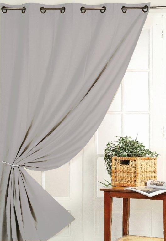 senvorhang senschal verdunkelung verdunklung 140x260cm uni grau gardinen fertiggardinen senschals. Black Bedroom Furniture Sets. Home Design Ideas