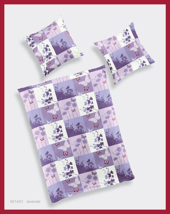 bierbaum bettw sche renforce 135x200cm fr hling lila rosa wei gardinen wohntextilien bettw sche. Black Bedroom Furniture Sets. Home Design Ideas