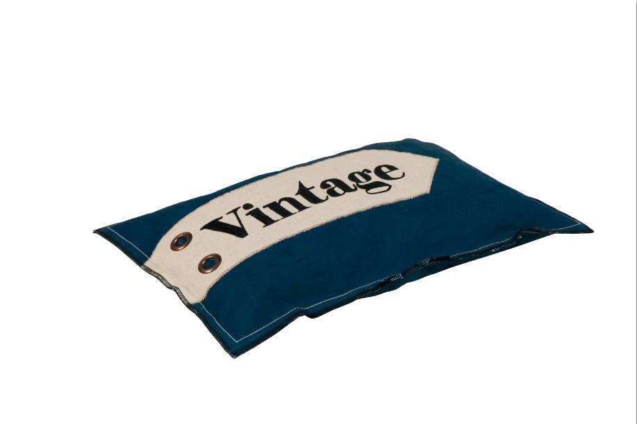kissen dekokissen vintage blau 30x50cm wohntextilien kissen design. Black Bedroom Furniture Sets. Home Design Ideas