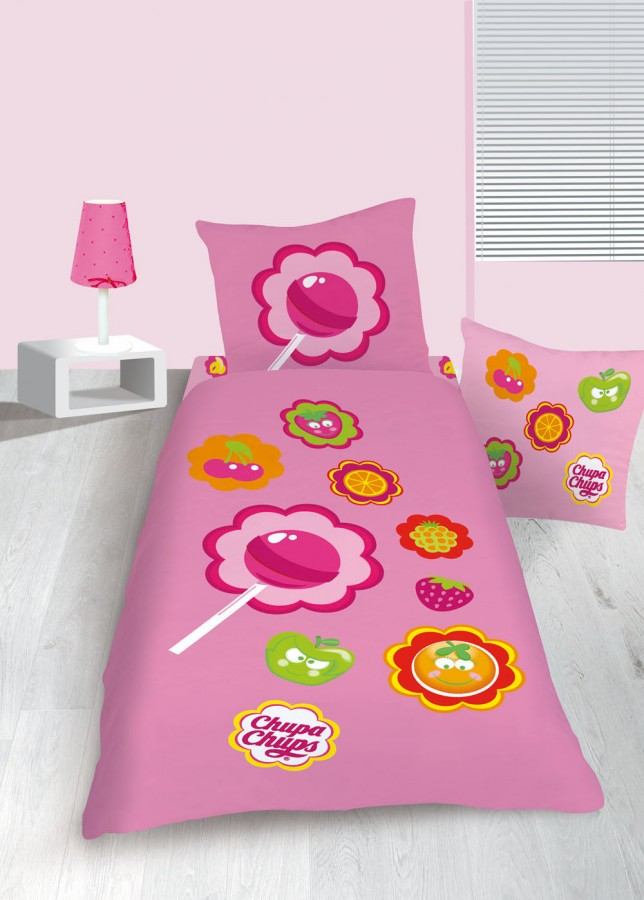 bettw sche kinder jugend chupa chups frutty 135x200cm gardinen wohntextilien bettw sche bettw sche. Black Bedroom Furniture Sets. Home Design Ideas