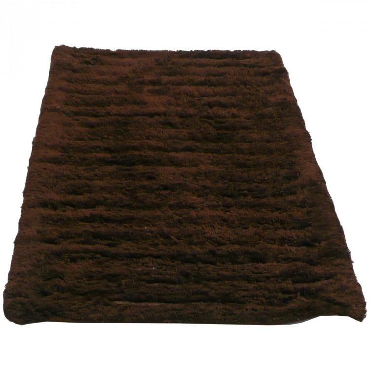 badteppich badvorleger badematte dunkelbraun 50x80cm wohnen badaccessoires badteppich vorleger. Black Bedroom Furniture Sets. Home Design Ideas