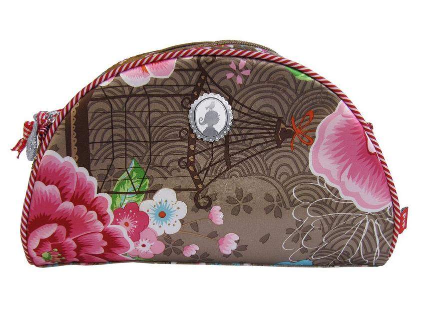 Pip Tapete Birds In Paradise Khaki : PIP Studio Kosmetikt?schchen Schminkt?schen Birds in Paradise khaki