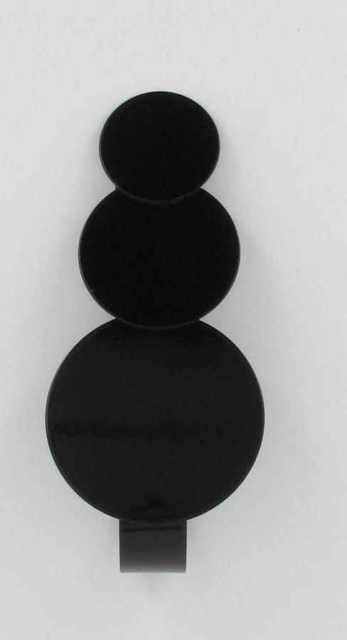 raffhalter spange metall schwarz kreise mit magnet 14x3cm gardinen gardinenstangen zubeh r. Black Bedroom Furniture Sets. Home Design Ideas