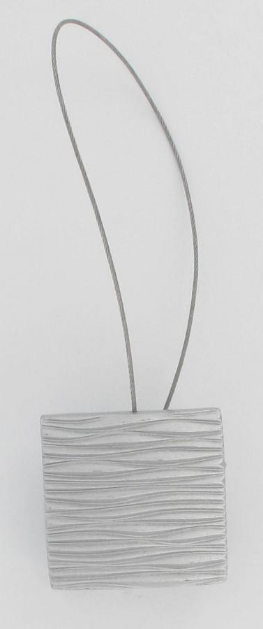 raffhalter metall silber viereckig mit rillen mit magnet 16x2cm gardinen gardinenstangen zubeh r. Black Bedroom Furniture Sets. Home Design Ideas