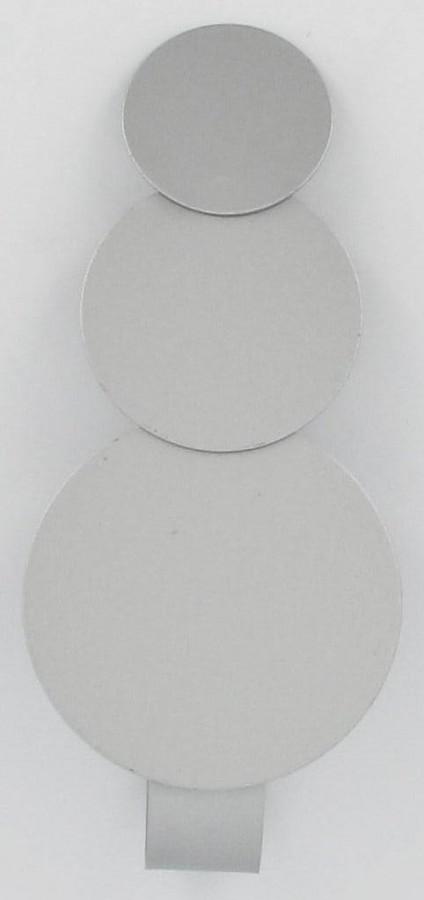 raffhalter spange metall silber kreise mit magnet 14x3cm gardinen gardinenstangen zubeh r. Black Bedroom Furniture Sets. Home Design Ideas