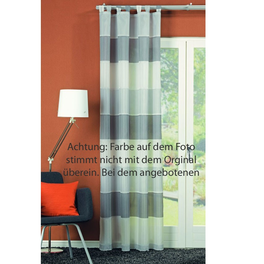 schlaufenschal fertiggardine ravenna taupe mintgr n. Black Bedroom Furniture Sets. Home Design Ideas
