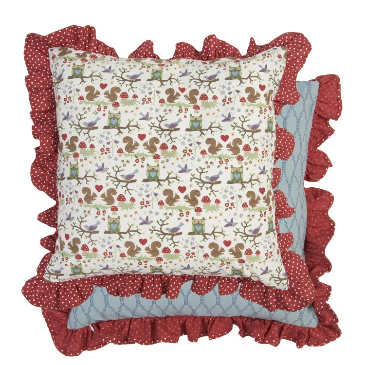 clayre eef kissenh lle r schenrand waldfreunde 50x50cm gardinen wohntextilien kissen young. Black Bedroom Furniture Sets. Home Design Ideas