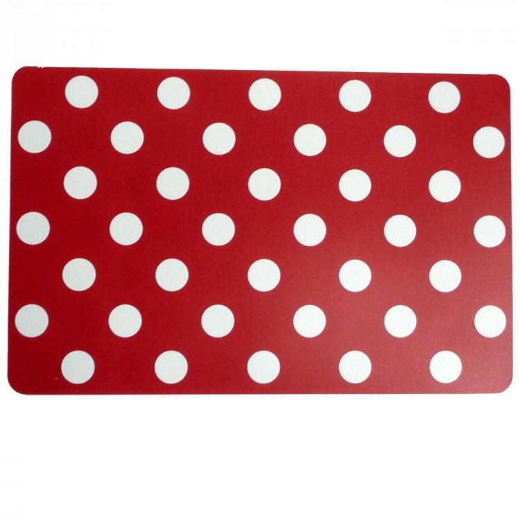 tischset platzdeckchen punkte rot wei ca 29x44cm wohntextilien tischw sche tischsets. Black Bedroom Furniture Sets. Home Design Ideas