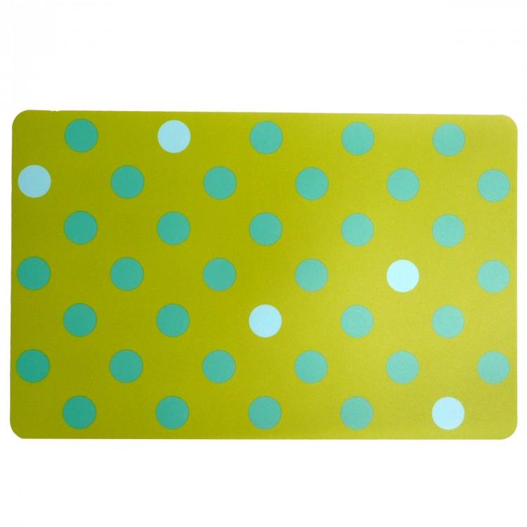 tischset platzdeckchen punkte gr n blau ca 29x44cm wohnaccessoires k che haushalt verschiedenes. Black Bedroom Furniture Sets. Home Design Ideas