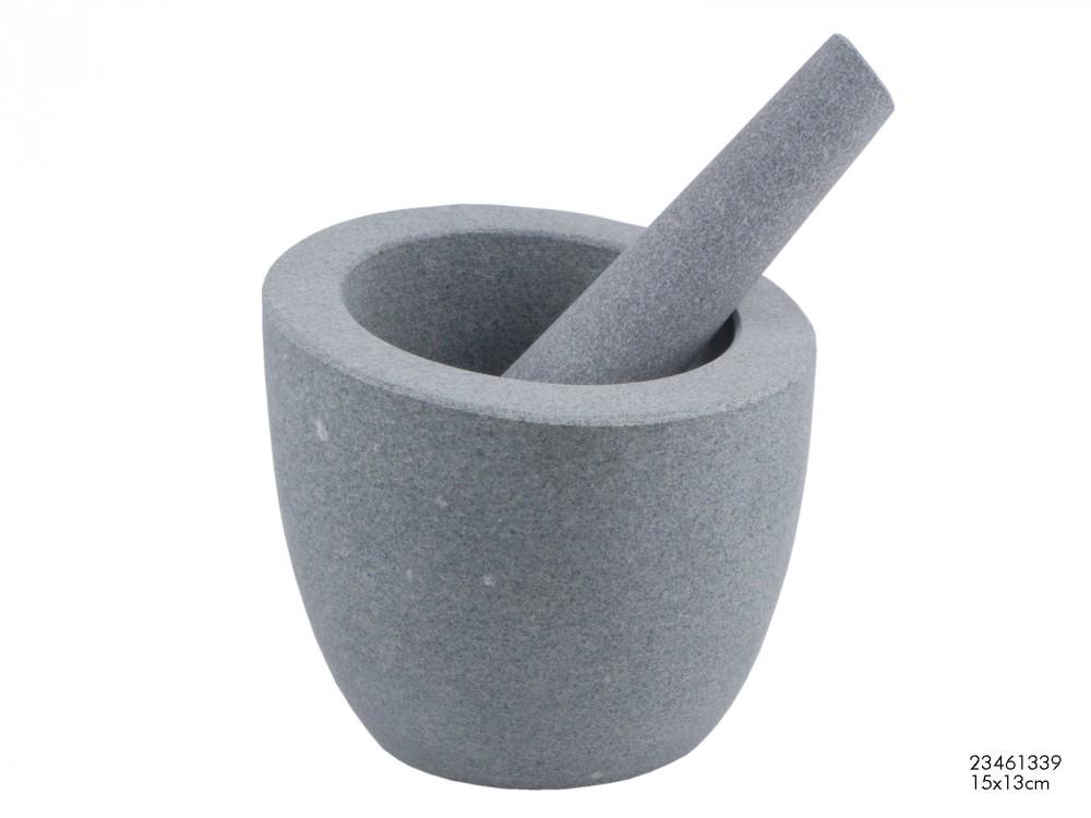 m rser aus granit 2teilig h 14cm wohnen kochen und genie en kochen. Black Bedroom Furniture Sets. Home Design Ideas