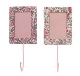 haken mit bilderrahmen rosa mit blumen 7x16cm geschenkideen sass belle. Black Bedroom Furniture Sets. Home Design Ideas
