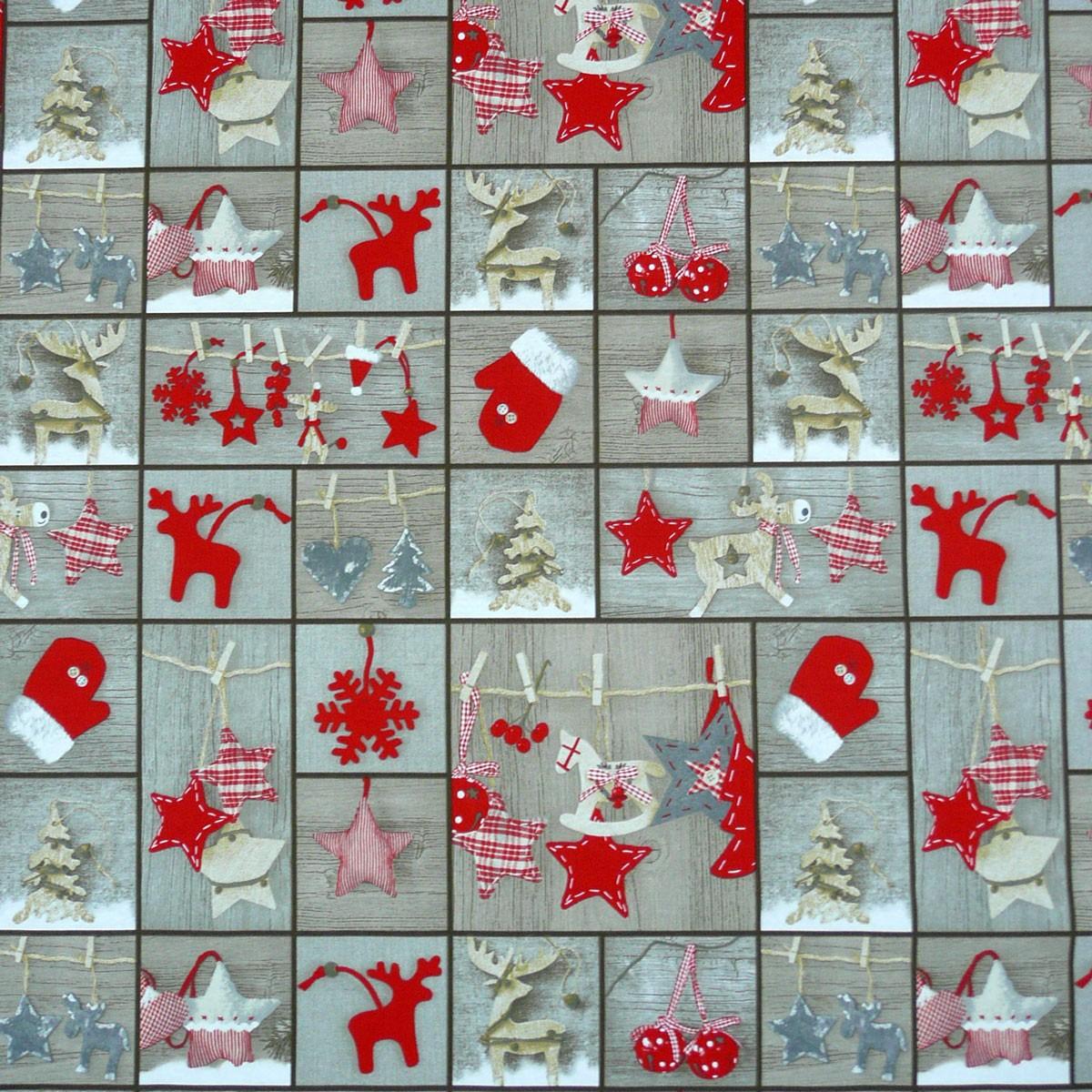 baumwollstoff stoff dekostoff meterware anh nger holz weihnachten weihnachten. Black Bedroom Furniture Sets. Home Design Ideas