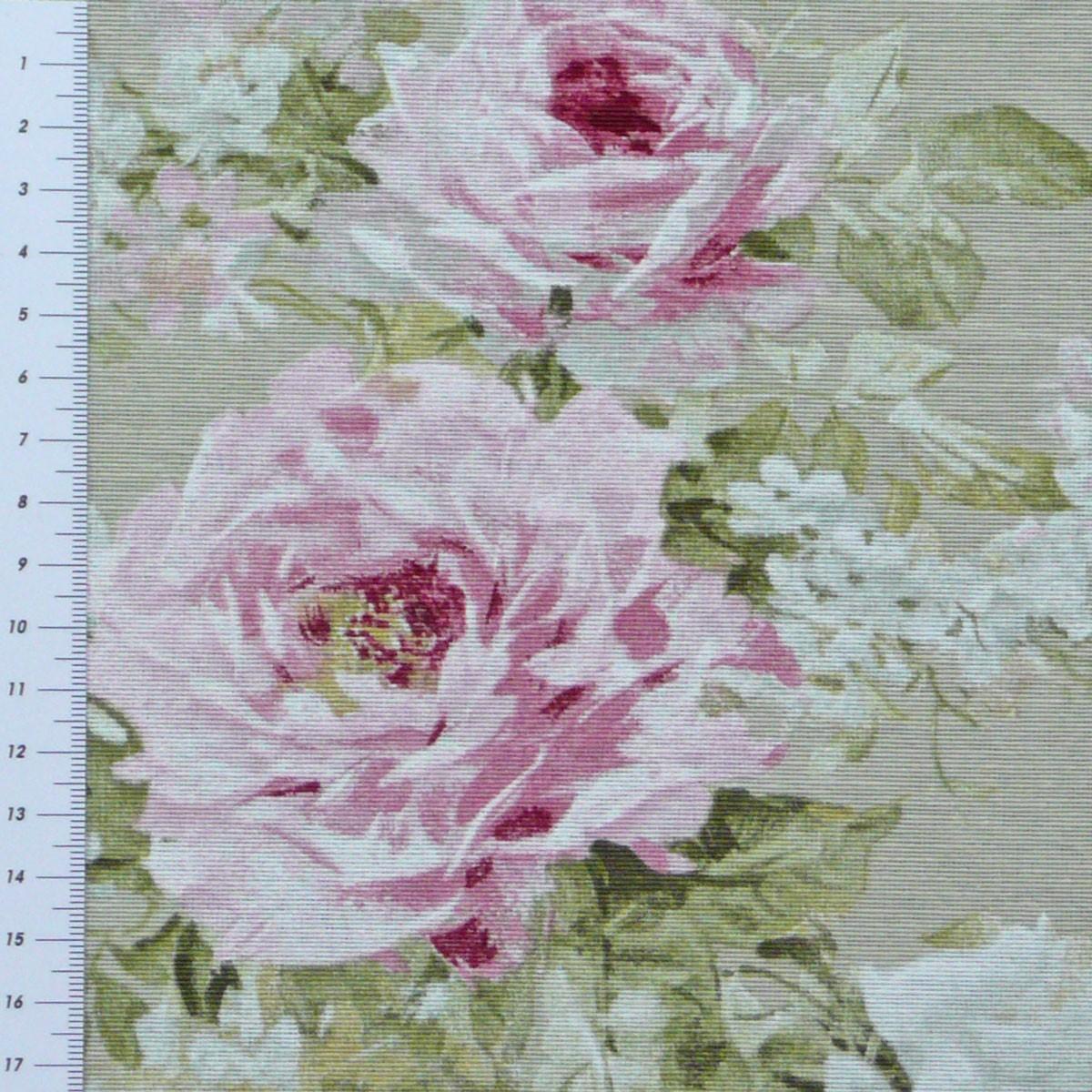 dekostoff rosen beige gardinenstoff stoff meterware stoffe stoffe gemustert stoff blumen. Black Bedroom Furniture Sets. Home Design Ideas