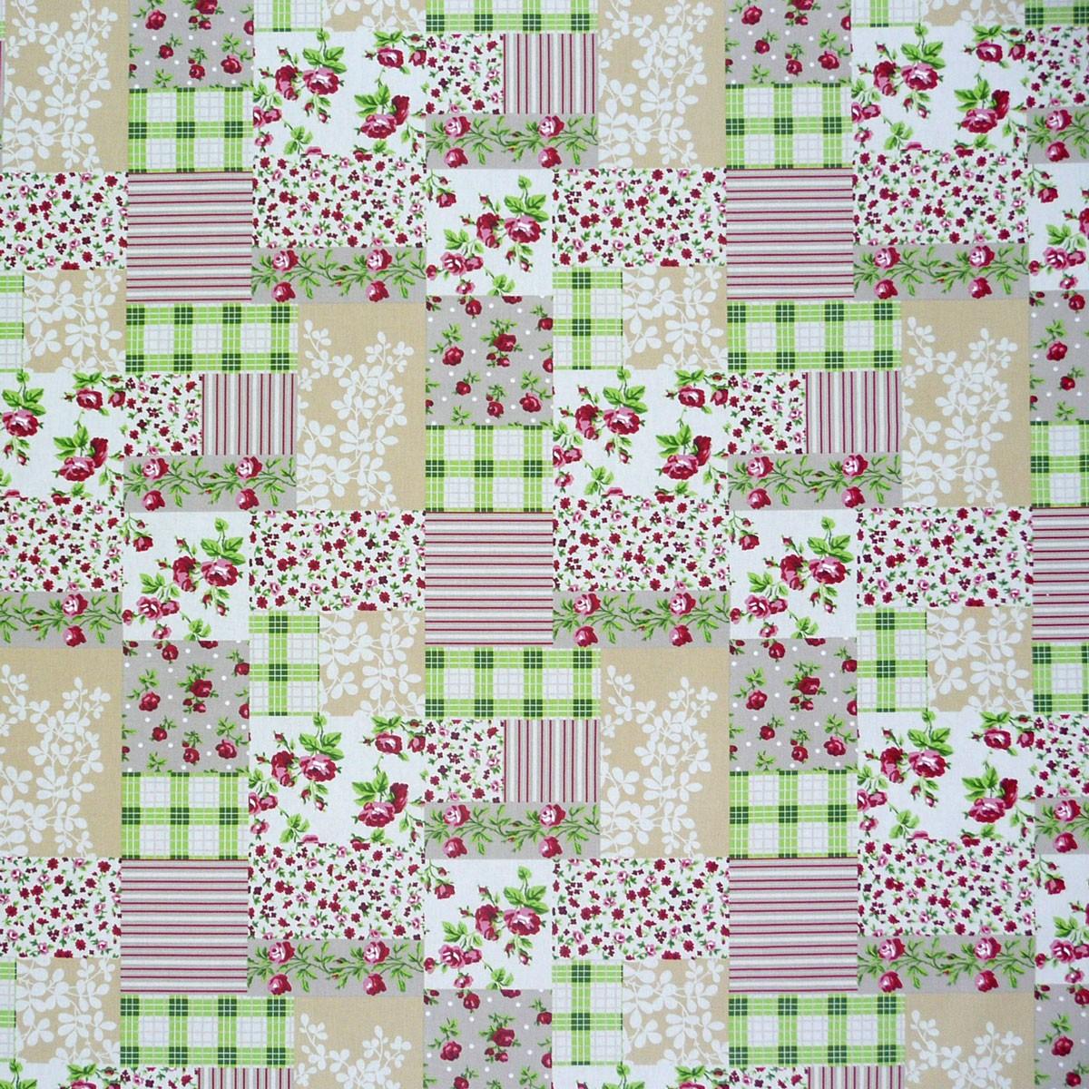 tischdeckenstoff rosen patchwork wachstuch beschichtete baumwolle stoffe wohnstoffe dekostoffe. Black Bedroom Furniture Sets. Home Design Ideas