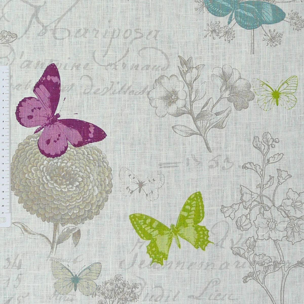 leinenstoff stoff butterfly schmetterlinge creme stoffe stoffe gemustert stoff schmetterlinge. Black Bedroom Furniture Sets. Home Design Ideas