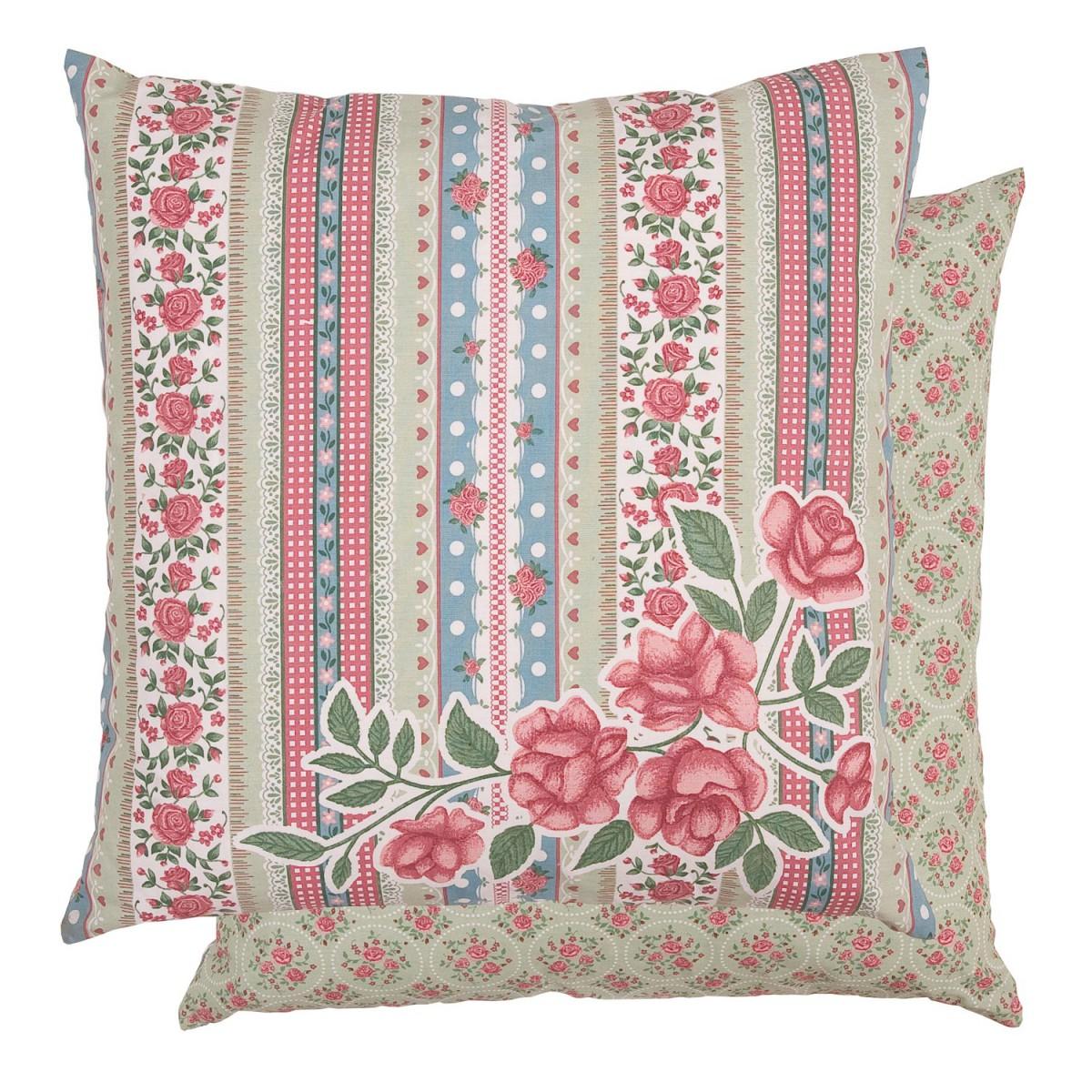 clayre eef kissenh lle rosen patchwork 50x50cm wohntextilien kissen flowers. Black Bedroom Furniture Sets. Home Design Ideas