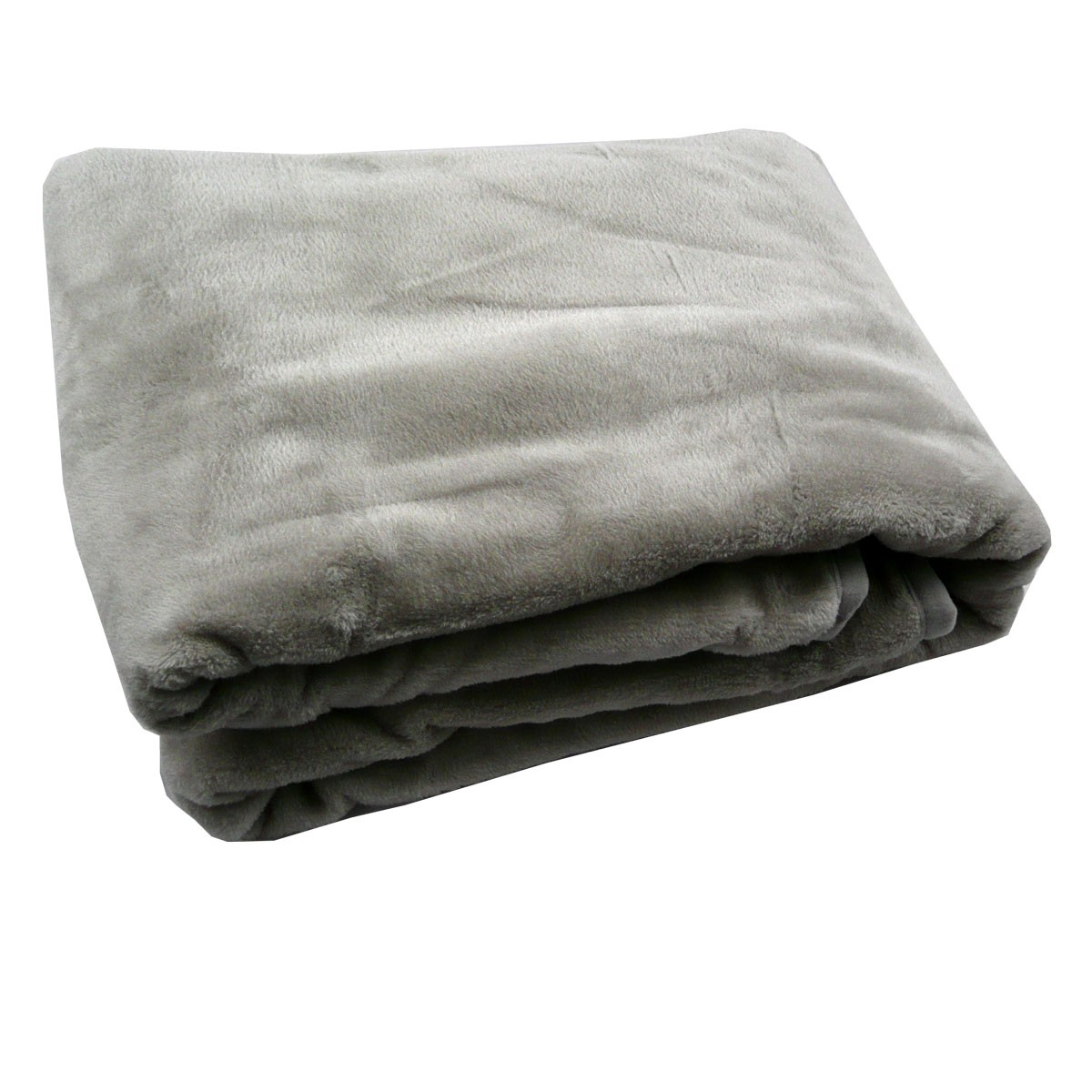 fleece decke kuscheldecke flauschdecke grau 150x200cm. Black Bedroom Furniture Sets. Home Design Ideas