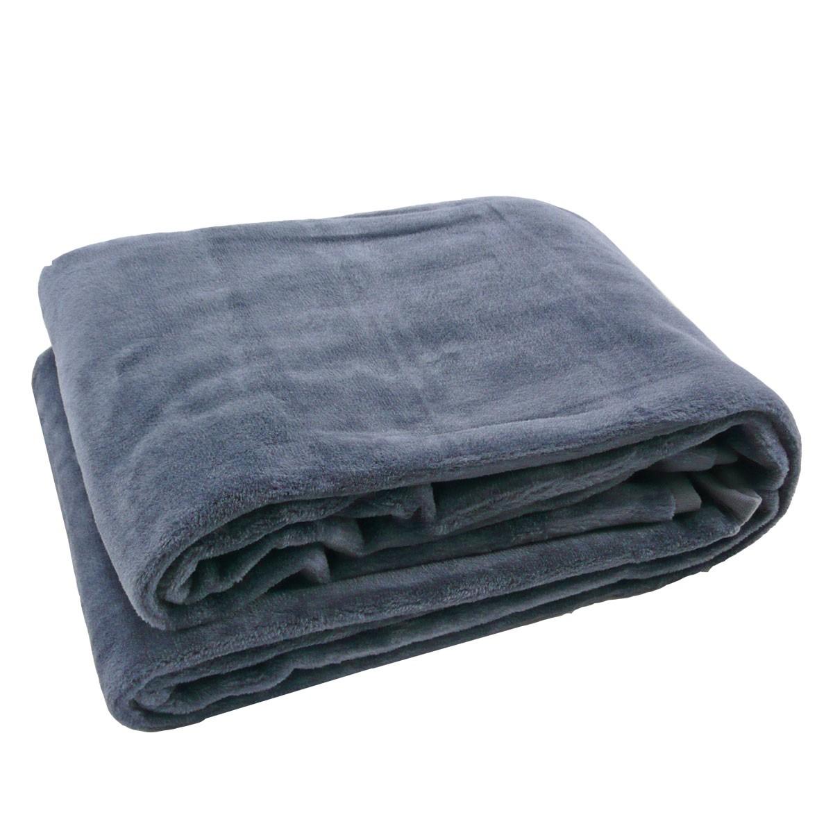 fleece decke kuscheldecke flauschdecke anthrazit 150x200cm. Black Bedroom Furniture Sets. Home Design Ideas