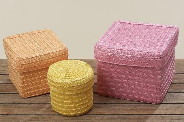 korb rund mit deckel rosa kunststoff gro 14x18cm wohnen wohnaccessoires aufbewahrung k rbe. Black Bedroom Furniture Sets. Home Design Ideas