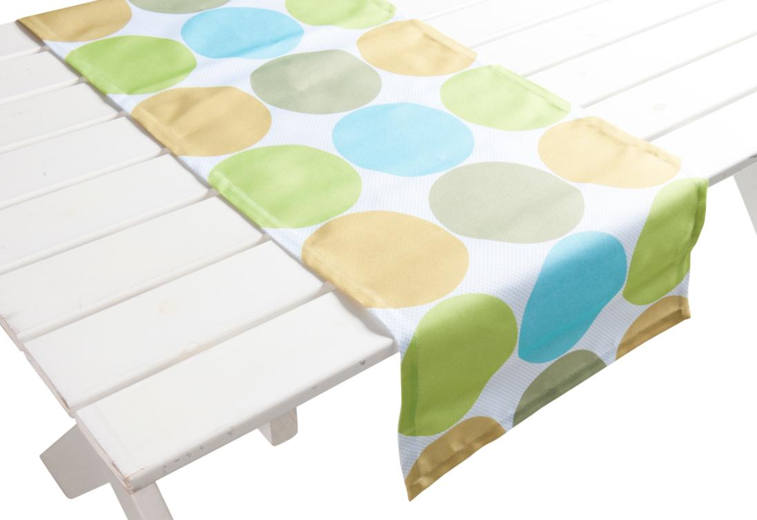 outdoor garten tischl ufer nandine punkte blau gr n. Black Bedroom Furniture Sets. Home Design Ideas