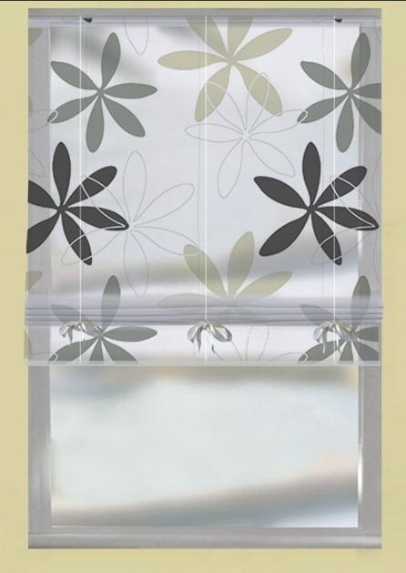raffrollo b ndchenrollo rollo mit tunneldurchzug nizza grau 60x135cm gardinen fertiggardinen. Black Bedroom Furniture Sets. Home Design Ideas