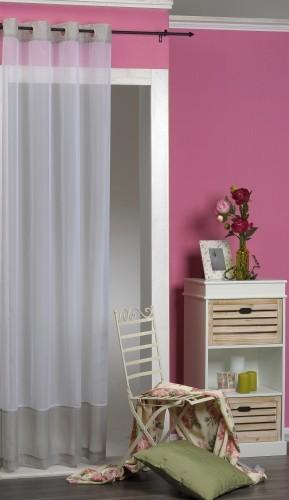 senschal dekoschal luisa wei grau mit wei en punkten 235x140cm gardinen fertiggardinen senschals. Black Bedroom Furniture Sets. Home Design Ideas