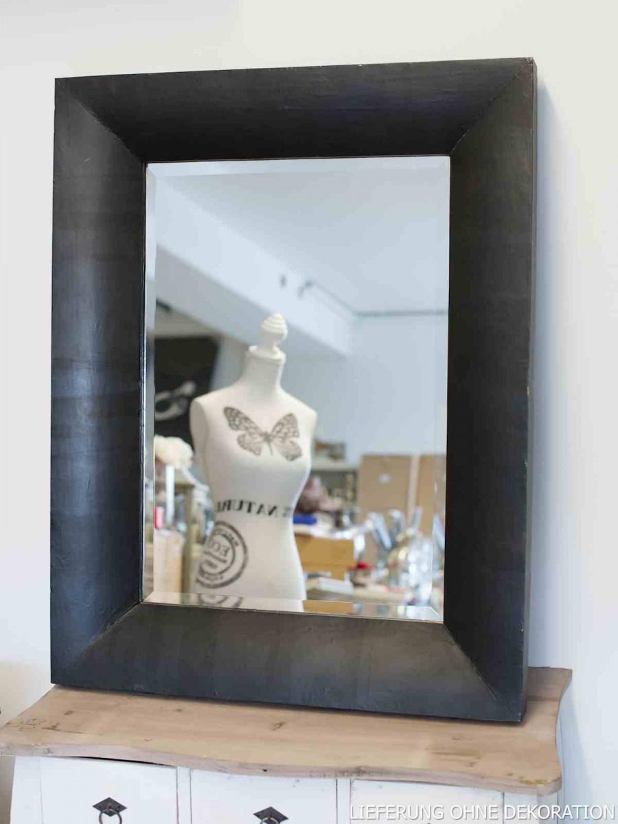 spiegel wandspiegel rahmen schwarz 70x90cm wohnaccessoires spiegel. Black Bedroom Furniture Sets. Home Design Ideas
