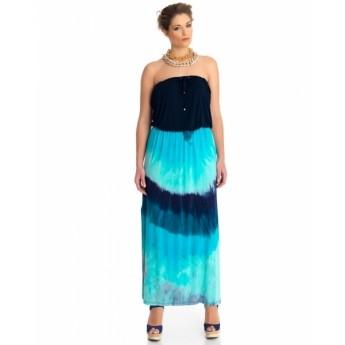 mat kleid ohne tr ger batik blau mode accessoires mode oberteile