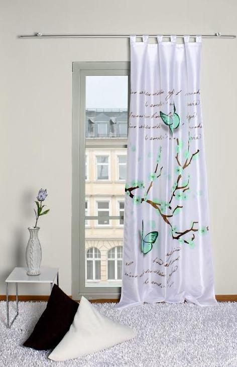 fertigschal dekoschal fertiggardine digitaldruck schmetterling 120x245cm gardinen fertiggardinen. Black Bedroom Furniture Sets. Home Design Ideas