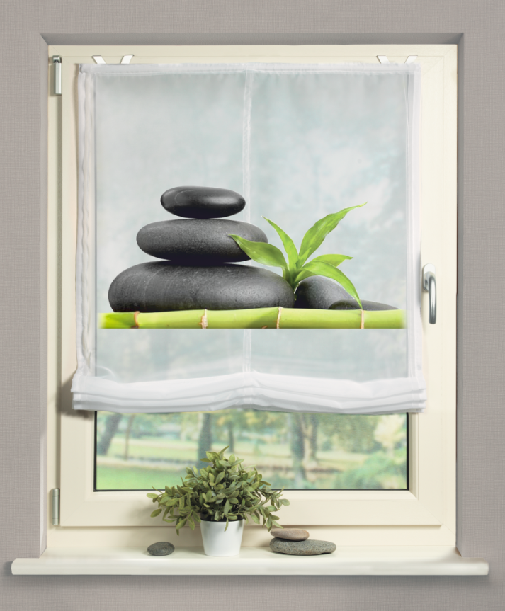 raffrollo digitaldruck carozo digitaldruck steine 80x140cm gardinen fertiggardinen raff. Black Bedroom Furniture Sets. Home Design Ideas