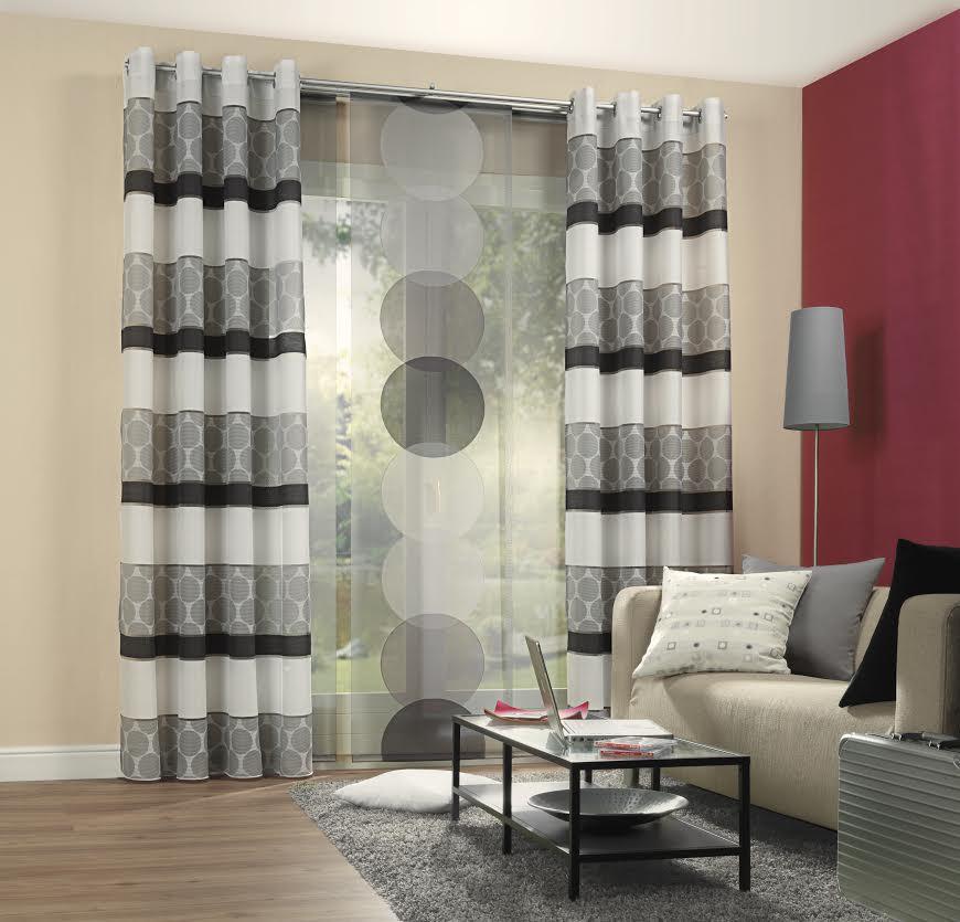 schiebevorhang fl chenvorhang dots anthrazit grau 245x60cm gardinen fertiggardinen schiebevorh nge. Black Bedroom Furniture Sets. Home Design Ideas