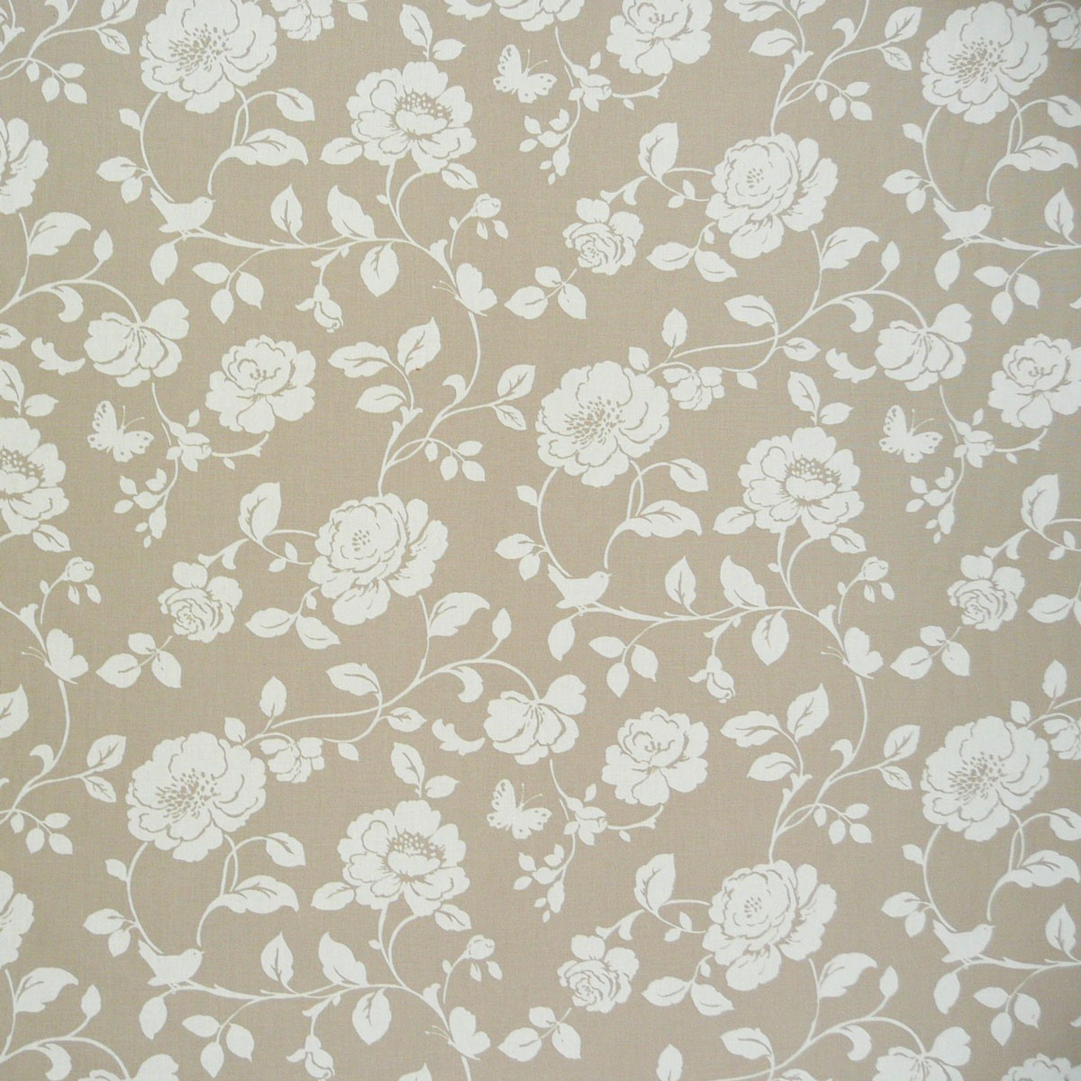 baumwollstoff stoff rose hellbraun wei stoffe stoffe gemustert stoff blumen. Black Bedroom Furniture Sets. Home Design Ideas