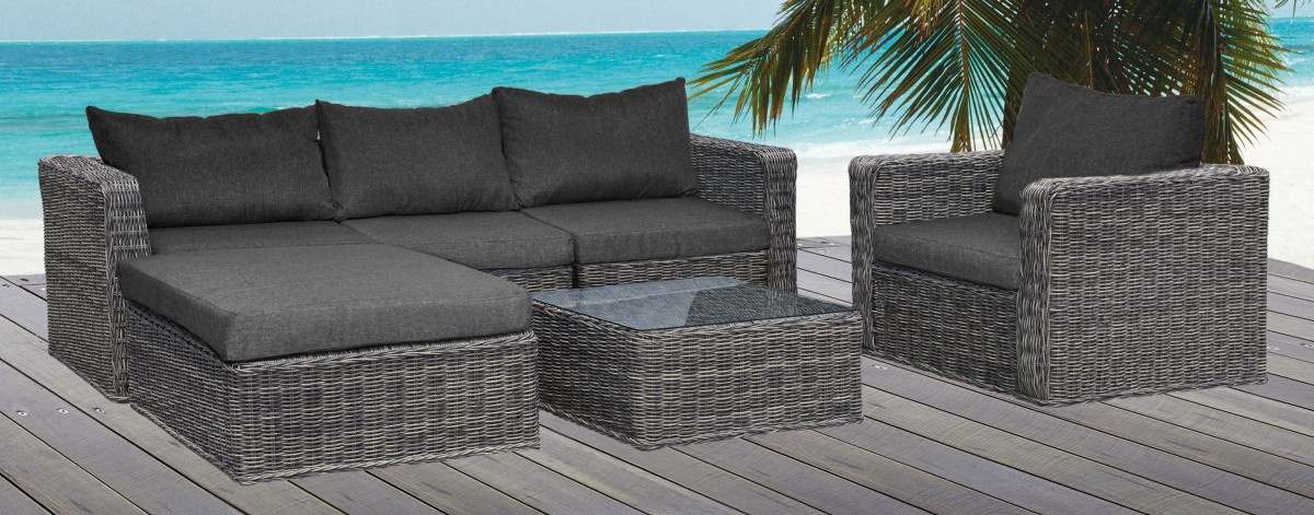 garten outdoor lounge set wohnen wohnaccessoires kleinm bel. Black Bedroom Furniture Sets. Home Design Ideas