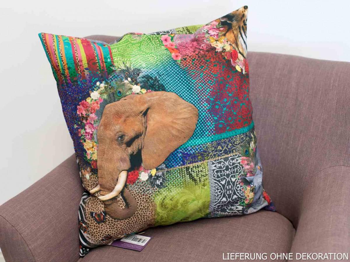 Kissen kissenh lle digitaldruck afrika tiere 50x50cm gardinen wohntextilien kissen design - Afrika gardinen ...