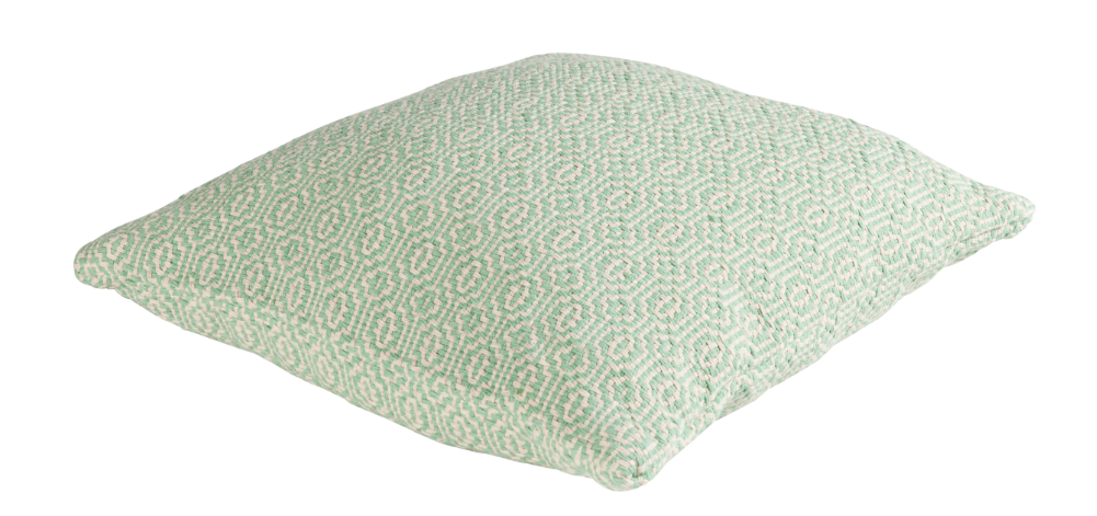 kissen dekokissen cambridge grobes webmuster creme gr n. Black Bedroom Furniture Sets. Home Design Ideas