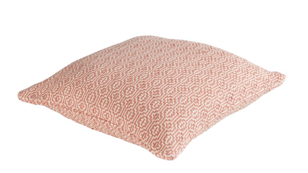 kissen dekokissen cambridge grobes webmuster creme rosa. Black Bedroom Furniture Sets. Home Design Ideas