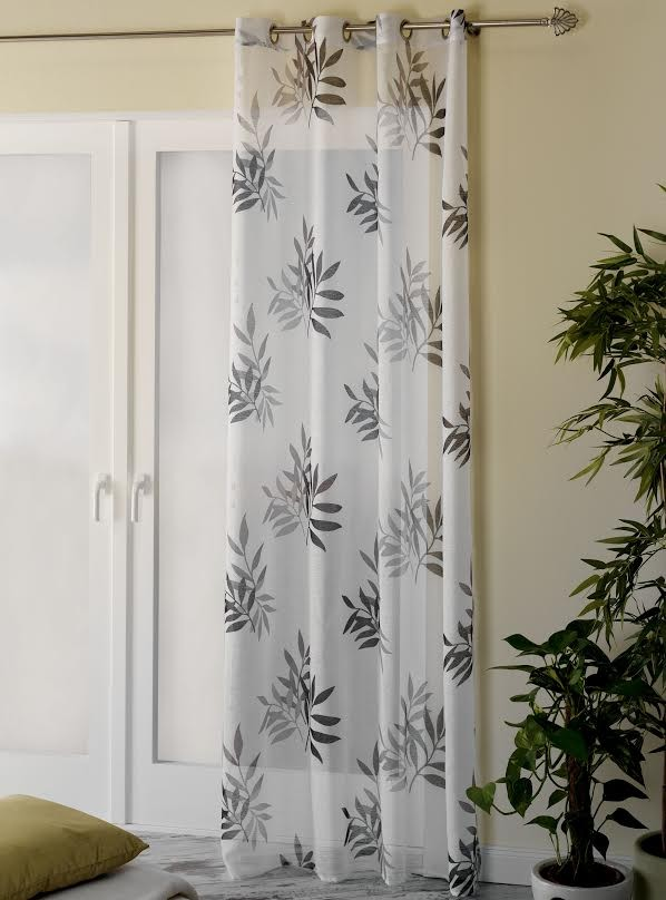 senschal fertiggardine bambus grau 135x245cm gardinen fertiggardinen senschals. Black Bedroom Furniture Sets. Home Design Ideas
