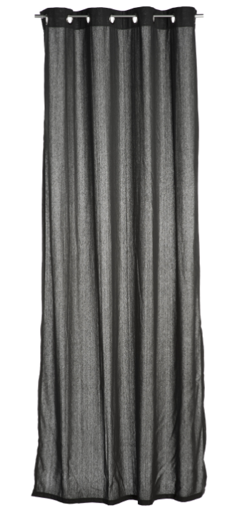senschal fertigvorhang bombay anthrazit 140x260cm gardinen fertiggardinen senschals. Black Bedroom Furniture Sets. Home Design Ideas