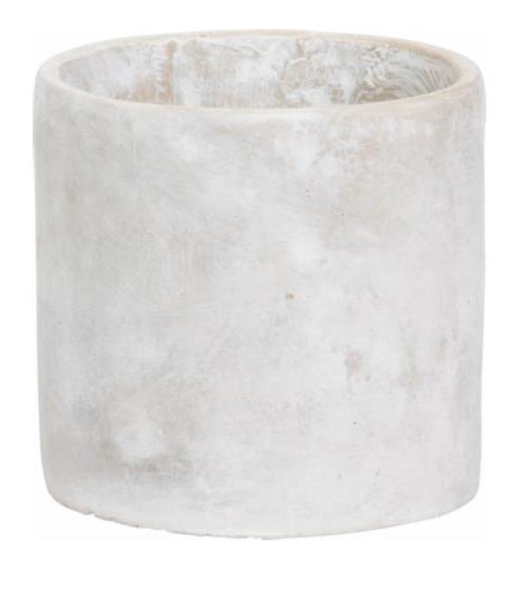 blumentopf schale steingut grau rund 16x16cm wohnen. Black Bedroom Furniture Sets. Home Design Ideas