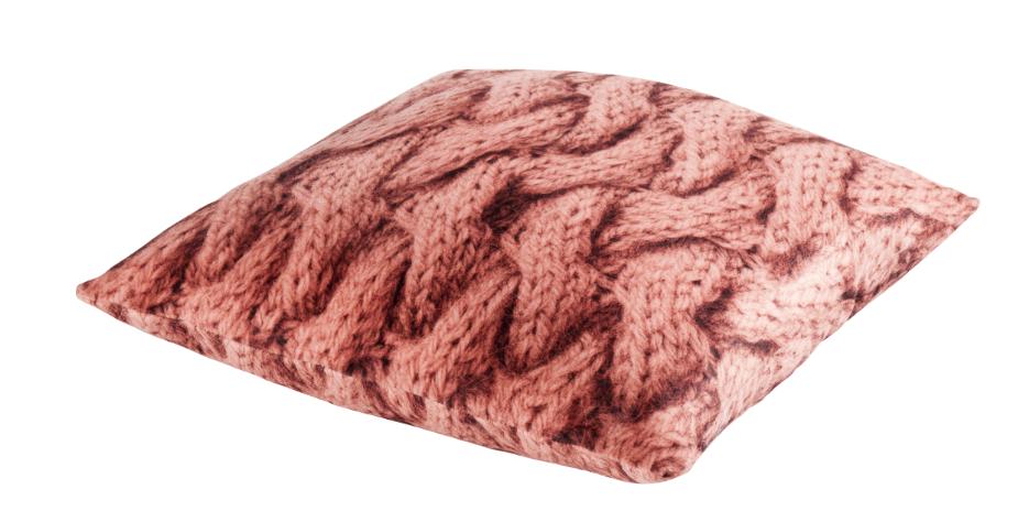 timo kissen velour wolloptik lachs 45x45cm wohntextilien kissen strick. Black Bedroom Furniture Sets. Home Design Ideas