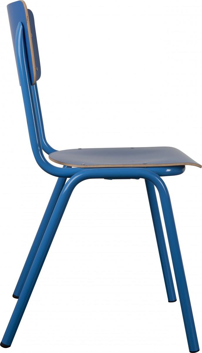 Retro stuhl blau inspiration f r die for Esszimmerstuhl schale