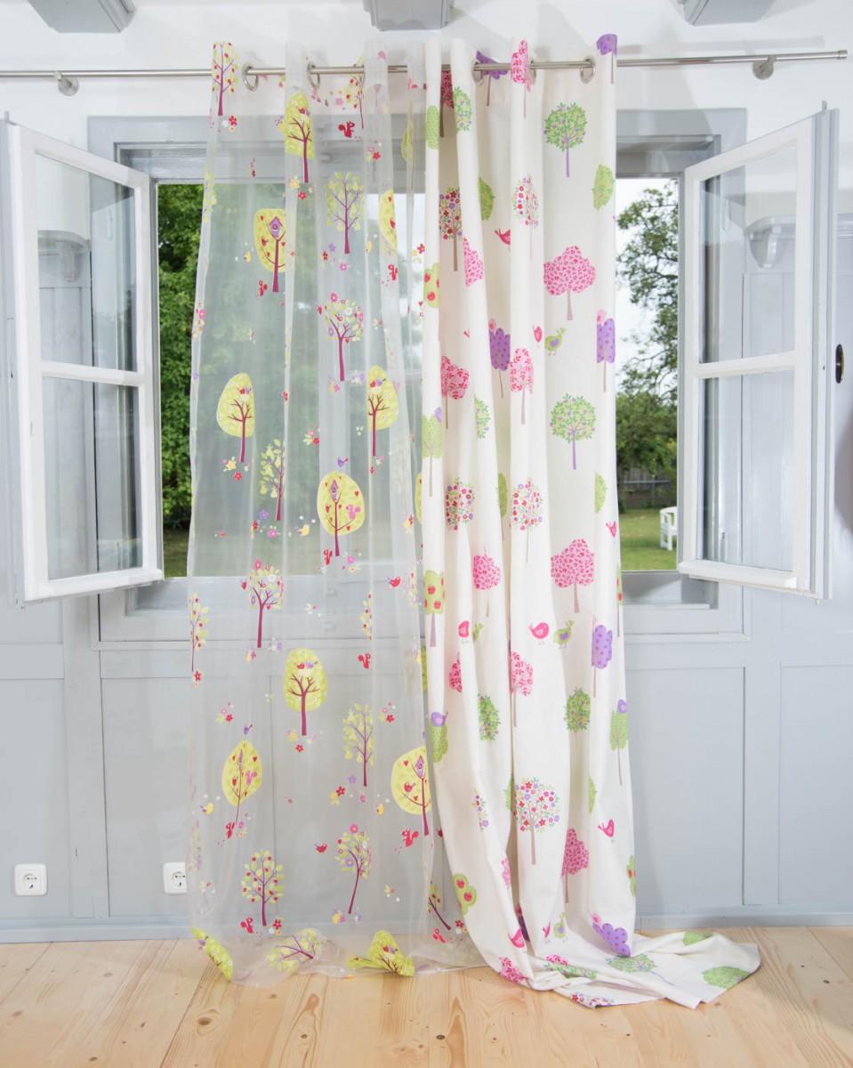 vorhang gardine senschal b umchen organza 245cm oder wunschl nge gardinen fertiggardinen senschals. Black Bedroom Furniture Sets. Home Design Ideas